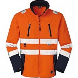 Veste de travail Pittsburgh,Softshell orange fluo/navy, Taille 2XL